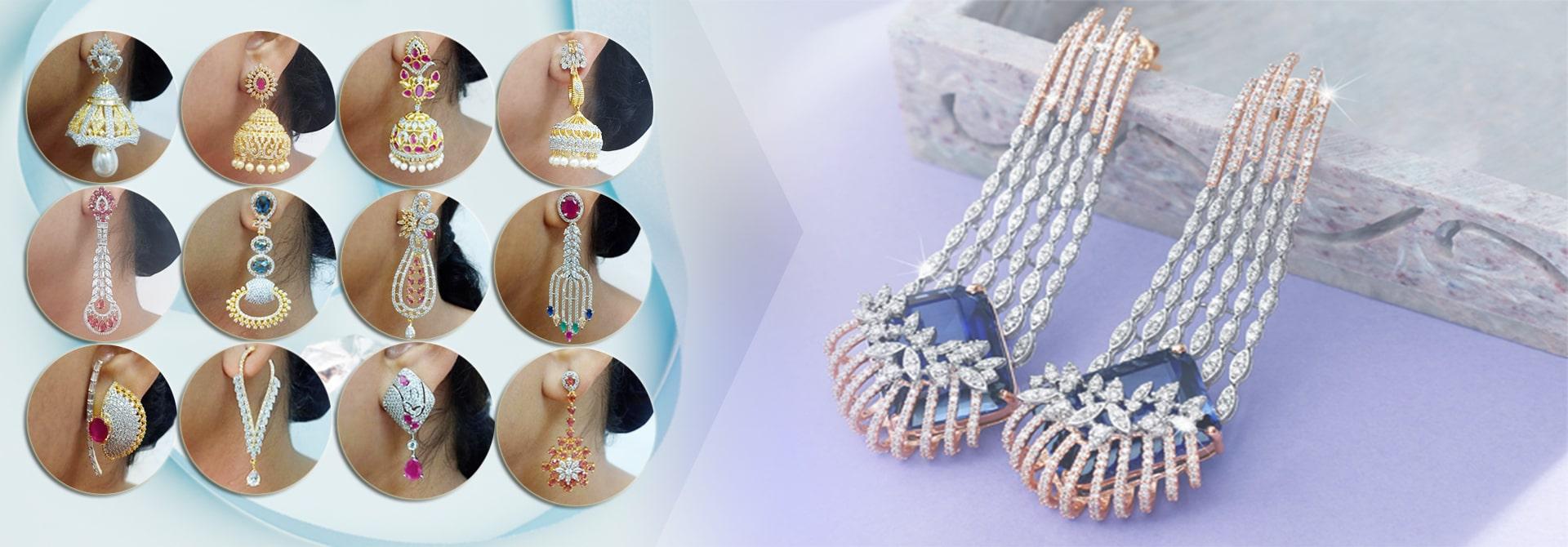 CZ Earrings & AD Earrings